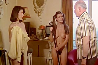Exotic lesbian vintage video with St