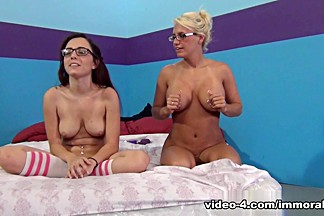 Crazy pornstars Jacky Joy, Roxanne Rae, Kat Dior in Amazing College, Dildos/Toys adult clip