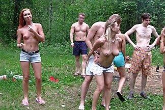 Dominica Phoenix & Eva Berger & Nika Star & Mancy & Rita Rush & Sabrina M  in naked students having hardcore shag in nature
