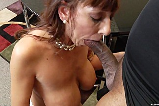 Alia Janine gets her mouth crammed with hard cock