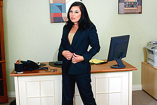 Ashley Blue & Billy Glide & Eric Masterson in Naughty Office