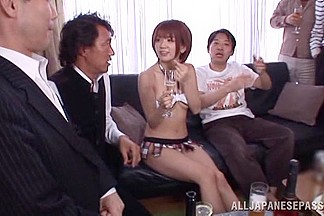 Mayu Nozomi Japanese babe is fucked in a short skirt