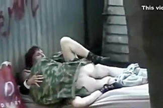 Russian homeless fuck outdoor