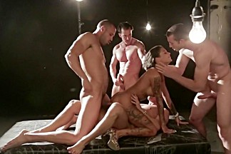 Fabulous pornstar Bonnie Rotten in amazing dp, group sex adult scene
