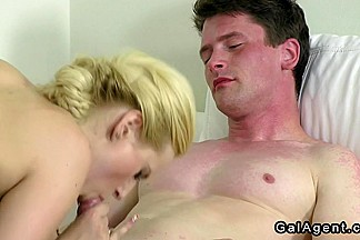 ### tits female agent gets banged on casting