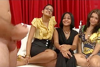 FLASHING CUM Masturbation for three Beauties CFNM 9 - NV