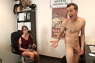 Redheaded Nikki Hunter fucks with boss