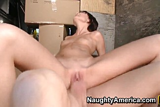 Horny Mark Wood nails skinny brunette slut Zoe Voss