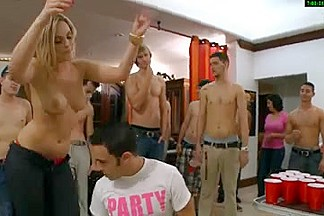 Three busty MILFs in a wicked dorm orgy