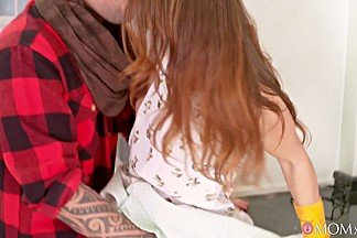 Caroline Ardolino & Martin Gun in Hot Mom Fucks Daughter's Hipster BF - MomXxx