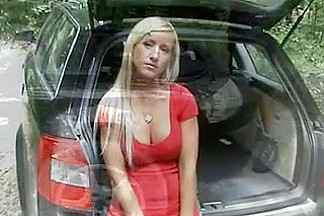 perfect austrian blond fucked outdoor love her tits!