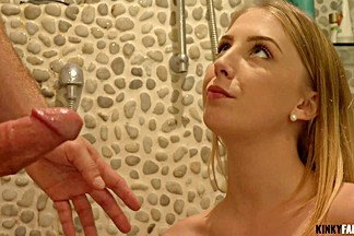 Kinky Family - Chloe Scott - Facial for naughty stepsis