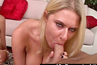Staci Thorn vs Riley Evans blowjob competition - Cock For Two