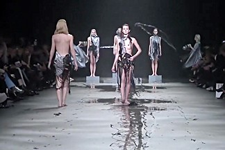 Fashionshow Full Naked Show Jef Montes in Fashionweek MB Amsterdam