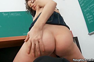 Naughty Brittney Banxxx fucks Evan in the classroom