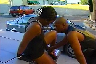 Black Hottie Cinna Bunz Fucked on Car