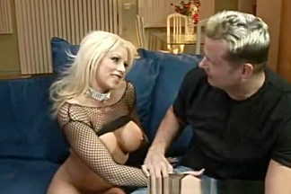 Horny pornstar Brooke Haven in amazing blonde, fishnet sex movie