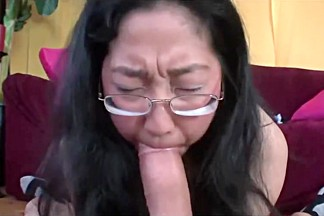 Four Eyed Asian Nerd Jenny Tricked Into Fuck