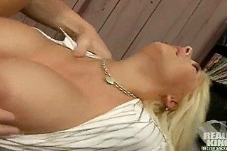 Blonde chick Candy Manson fucks hard with Jack