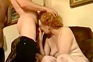 Vintage GrandMILF  Fucking Hard On The Couch