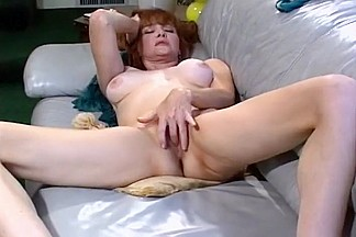 Redhead Milf Working at Her Sweet Slit