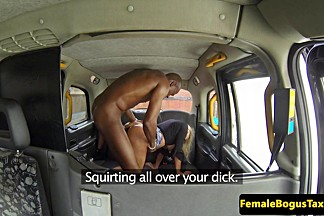Bigtitted brit cabbie riding nubian rod